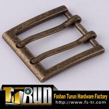 China wholesale factory zinc alloy double pin belt buckle
