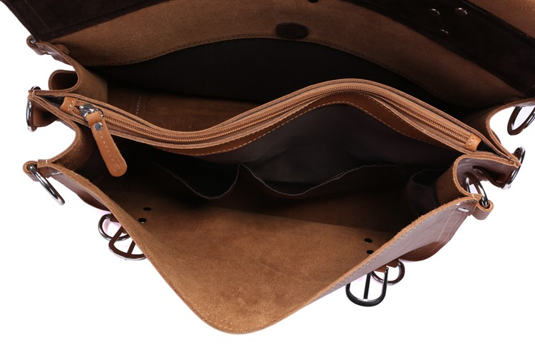 7161R JMD Crazy Horse Leather Hand Travel Cover For Men's Briefcases