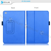 3d image protective case for ipad, portfolio wallet stand leather flip case for ipad with hand strap