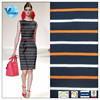 100% Cotton Yarn Dyed Stripe Pique Mesh Thick cotton Fabric On Sale