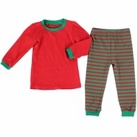 baby Christmas pajamas cheap 100% cotton baby cloth pajamas wholesale discount sleeping wear suit sets
