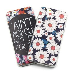 Daisy design case for iPhone 5 6 plus by high quality silicone material