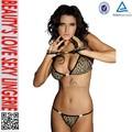 leopard sexy bra lencería erótica las mujeres sujetador y panty conjunto