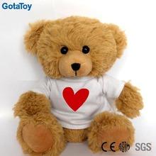 Personalizado plush urso de pelúcia barato com camisa