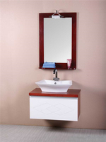 New Style Hot sale Slim Waterproof Solid Wood Vanity Cabinet in Bathroom
