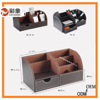 Home Storage Box with Dividers, Extra Large, Remote Control Holder,With Removable Drawer