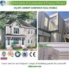 Environment friendly flat top roof pre designed Tailored prefab light steel structure villa