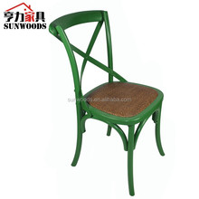 Green color Antique Cross Back Bistro Chair/Wedding Chair