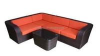 2015 Outdoor Garden popular rattan furniture l shaped rattan sofa sets
