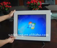 15 inch white lcd all in one touch screen pc with IR touch and fanless