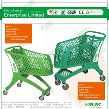 4 wheel European supermarket plastic shopping trolley price