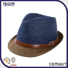 Hot sale Straw Fedora Hat For Men straw hats wholesale paper braided hat