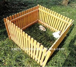 wooden pet fense
