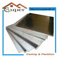 Colored Aluminum Foil Back Gypsum Ceiling Tile