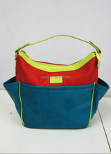 Newest large ladies hobo bag for AW2015 front and back has non-function pockets for all young lady large hobo bag