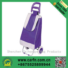 Hot sale foldable shopping trolley bag for sport,newest foldable shopping trolley bag