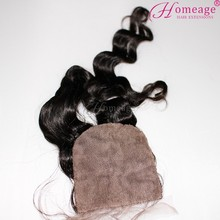 homeage closure hair brazilian hair with full lace too silk base closure freestyle parting
