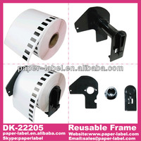 Brother Compatible DK-22205 Labels 62mm*30.48M Continuous 100rolls (DK-22205 free sent to 4pcs reuseable frame)