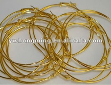 Gold color basketball wives earring hoop!!Basketball wives earring findings 2012!!