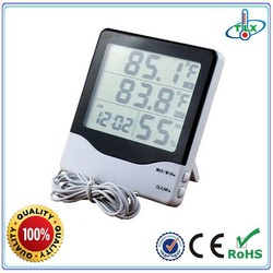 Hourly Chime Digital Clock, Hanging to Wall Hygro-Thermometer Clock