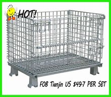 1000*800*840mm removable warehouse storage cage with wheels with the price of FOB Tianjin US $47 per unit