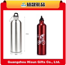 600ML aluminum water bottle with carabiner water bottle stainless steel insulated drinking sports water bottle