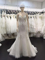 Fashion Wedding Dresses Formal Sweetheart Straps Vintage Cristal Full Beadings Sexy Lace Bridal Gowns 2015 New Arrival A152