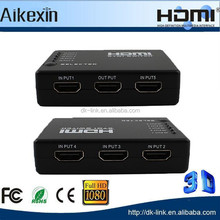 5 Port Switch | 5 x IN / 1 x OUT HDMI Switch - 1080P with iR Remote Control
