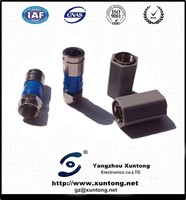 rg6 compression connector Europe Type High quality rg6 compression f connector conector rg6