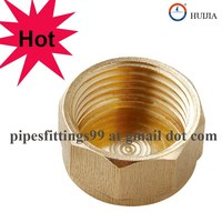 High quality Brass fittings screw end cap