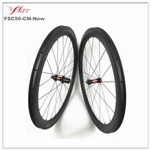 Dropship wheels 700C road farsports 50mm carbon clincher wheelset with DT straight pull hub + Sapim cx-ray spoke