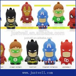 2015 new arrival 512gb usb flash drive superhero usb cartoon usb flash drive