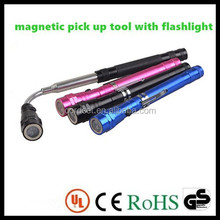 telescopic magnetic pick up tool with flashlight
