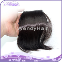 top quality 100 human hair brazilian hair clip on human hair bang