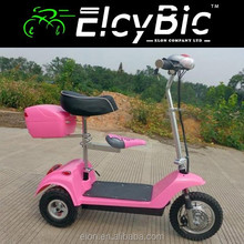 "12"" new design electric scooters bikes 250w three wheel electric bike (E-SK03C pink)"