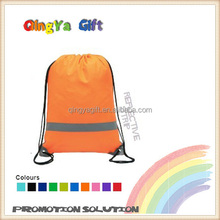 Promotional Cheap Drawstring Bag With High Visibility Reflective Strip