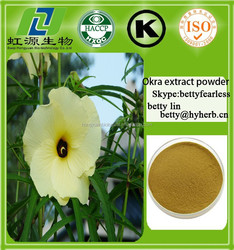 Hot sell okra extract powder natural dried okra powder