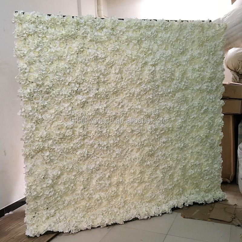 2018 wholesale stage or background white flower wedding decoration lfb127 wall 1g junglespirit Choice Image