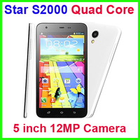 Cheap Star S2000 Phone 5 inch MTK6589 Quad Core Smart Mobile phone 1GB+4GB 12MP Rear Camera
