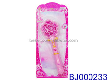 Fancy girls toy pink magic wand/princess led light up flower fairy wand