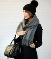 wholesale solid color woven style winter 100% cashmere scarf