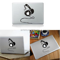 Newstyle unique Headset Headphone Vinyl Decal Case Cover Sticker Skin Protector For Apple For MacBook Air Pro Laptop 13-15inch