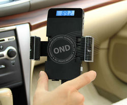 3.5mm Car Holder FM Transmitter for iPhone/Android/Window Phones/Mp3 Player with Handsfree&USB Charging