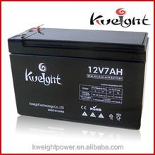 Kweight Solar garden light battery toy car battery 12v 7Ah