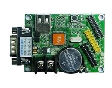 2015 hot sale HD-A4 with wireless transmission for U-Disk & RS232 serial port for single color led display module