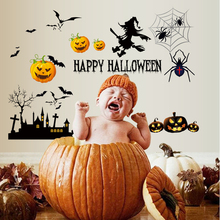 Home decoration removable halloween wall stickers for kids