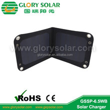 6.5W foldable solar charger solar panel for bag
