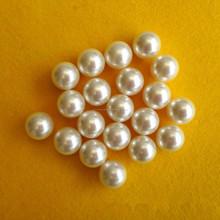redonda de perla la perlas de plástico con agujero