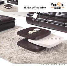 Square estilo pequeña mesa auxiliar de color blanco J835A