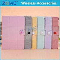 2015 New Products Ultra Slim Light Weight Auto Wake Up/Sleep Smart Cover Tri-fold Protective PU Leather Case For iPad Mini